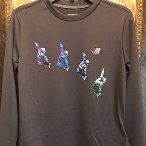 The North Face boys snowboard  L/S tee NWT